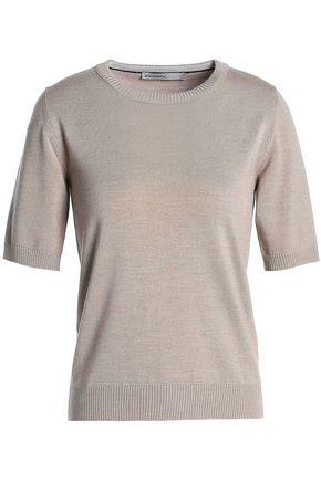 GENTRYPORTOFINO Wool, silk and cashmere-blend top