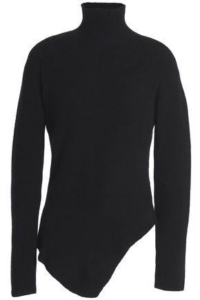 GENTRYPORTOFINO Asymmetric ribbed cashmere sweater