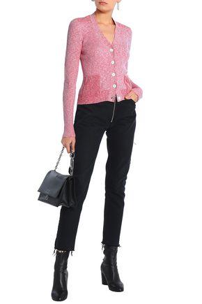 MAISON MARGIELA Marled ribbed cotton-blend cardigan