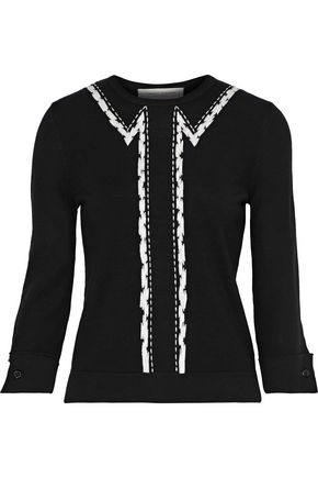 CAROLINA HERRERA Embroidered wool sweater