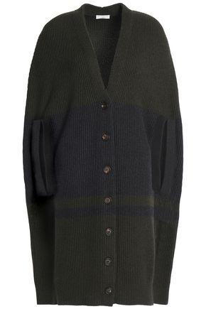 BRUNELLO CUCINELLI Cape-effect ribbed cashmere cardigan