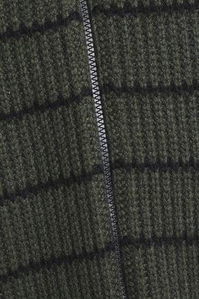 BRUNELLO CUCINELLI Striped ribbed cashmere jacket
