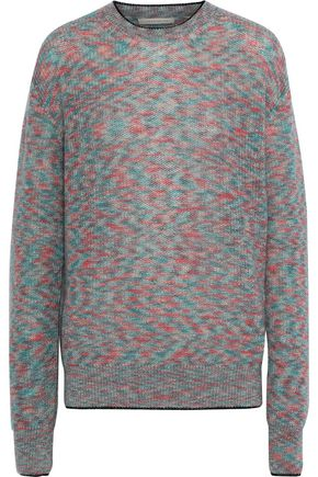 CHRISTOPHER KANE Mélange mohair-blend sweater