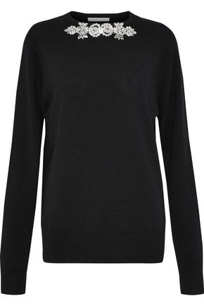CHRISTOPHER KANE Crystal-embellished cashmere sweater