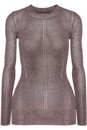 CHRISTOPHER KANE DNA metallic pointelle-knit sweater
