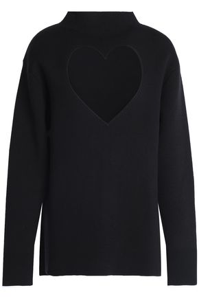 PROENZA SCHOULER Two-tone stretch-knit sweater