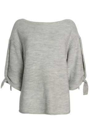 HALSTON HERITAGE Knotted mélange knitted sweater