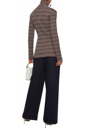 STELLA McCARTNEY Checked wool turtleneck sweater