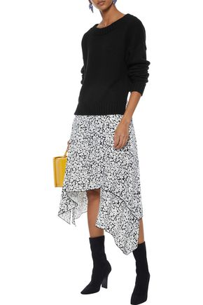 DEREK LAM Cropped cashmere and cotton-blend sweater