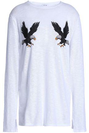 ZOE KARSSEN Printed slub cotton-jersey top