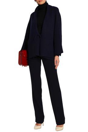 AGNONA Ribbed-knit cashmere cardigan