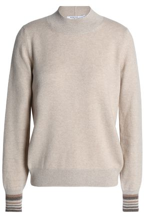 AGNONA Metallic cashmere-blend sweater