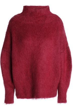 AGNONA Felt wool-blend turtleneck sweater