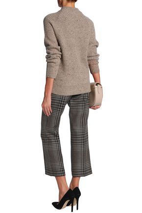 AGNONA Ribbed wool and cashmere-blend sweater