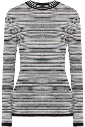 M.I.H JEANS Moonie striped merino wool-blend sweater