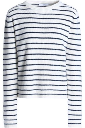 SANDRO_XX Metallic striped wool-blend sweater