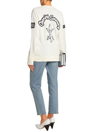 OPENING CEREMONY Appliquéd wool-blend cardigan