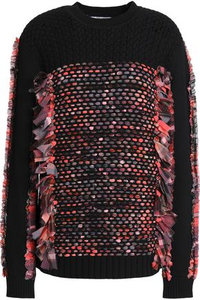 OPENING CEREMONY Embroidered cotton and wool-blend sweater