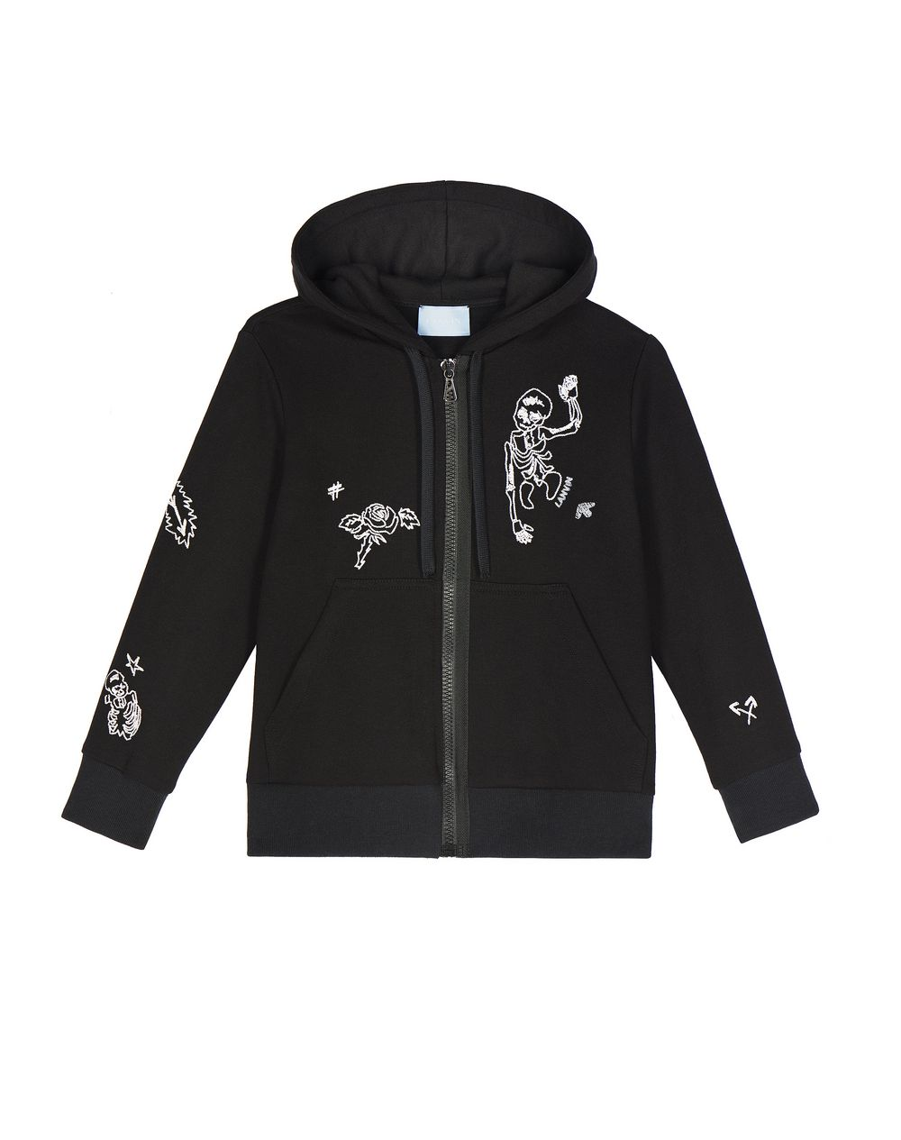 ZIPPED SKELETON SWEATSHIRT - Lanvin