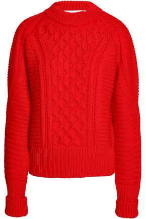 MARY KATRANTZOU Cable-knit wool sweater