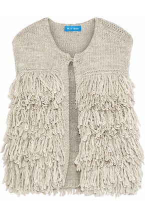 M.I.H JEANS Fringed knitted vest