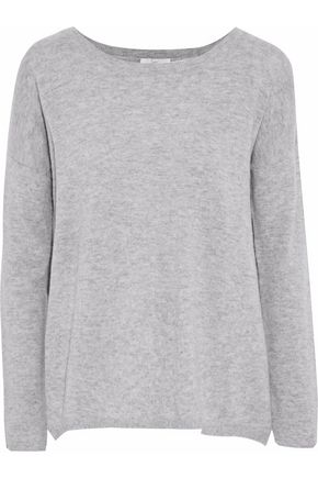 JOIE Effie split-back wool and cashmere-blend sweater