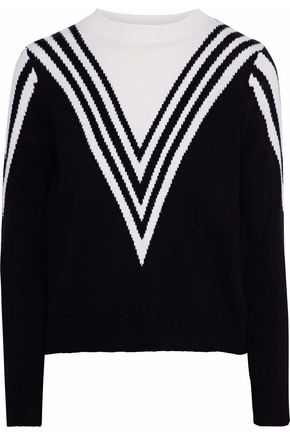 RAOUL Intarsia cotton sweater