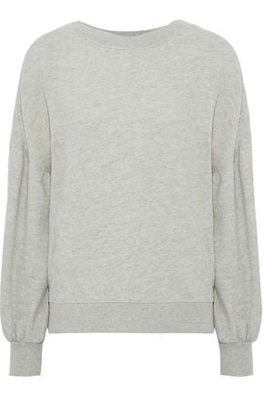 JOIE Isae mélange French cotton-blend terry sweatshirt