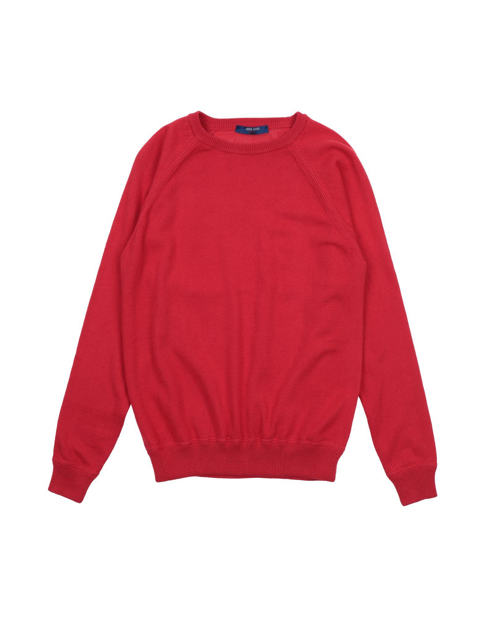 Entre Amis Garçon Kids' Sweaters In Red