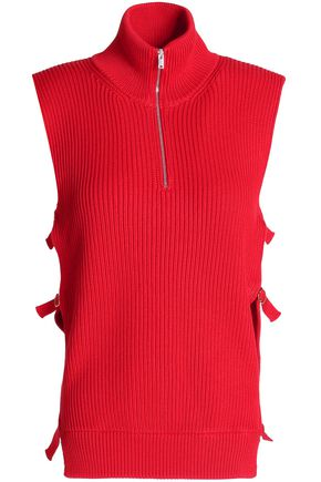 MAISON MARGIELA Buckled ribbed cotton top
