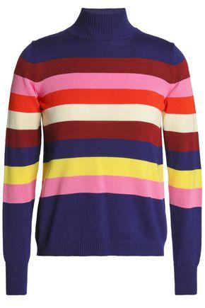 DELPOZO Striped merino wool turtleneck sweater