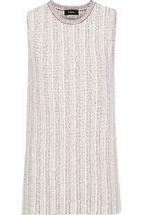THEORY Meenaly cotton-blend bouclé sweater