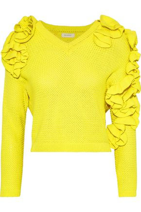 DELPOZO Ruffled cotton sweater
