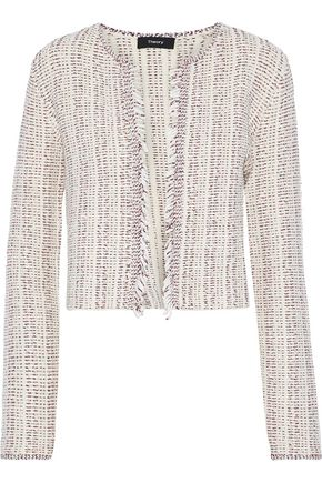 THEORY Galinne frayed bouclé-tweed jacket