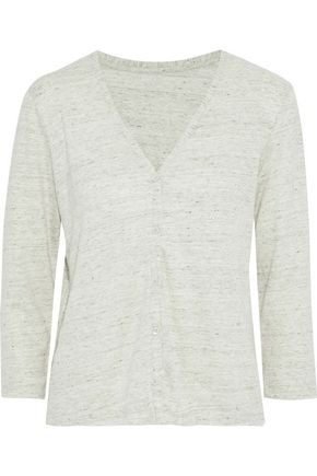 MAJESTIC FILATURES Marled stretch-linen cardigan