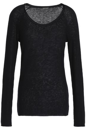 ELIE TAHARI Ribbed wool-blend sweater