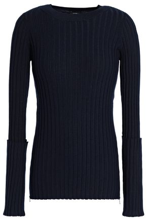 JOSEPH Ribbed merino wool-blend sweater