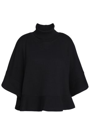 SEE BY CHLOÉ Cotton and modal-blend fleece turtleneck sweatershirt