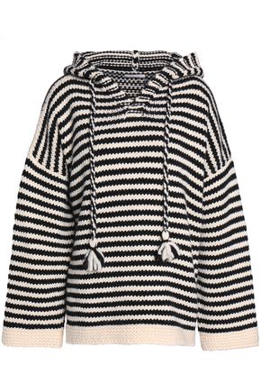 SEE BY CHLOÉ Striped wool hooded sweater
