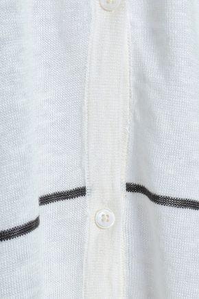 CHARLI Antonella intarsia linen cardigan