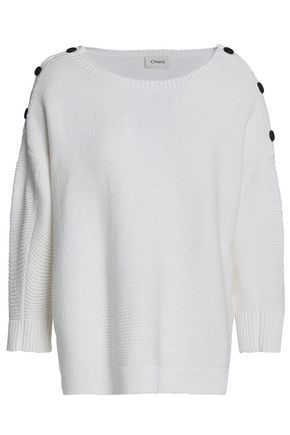 CHARLI Button-detailed cotton sweater