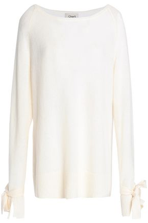 CHARLI Calgary tie-detailed cashmere sweater