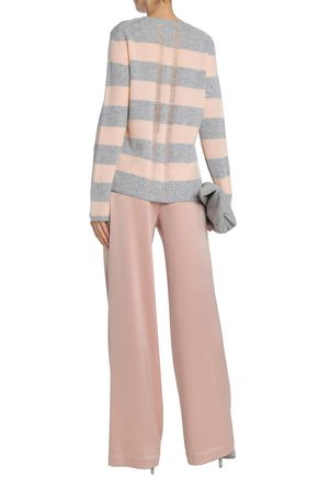 CHARLI Distressed striped cashmere sweater