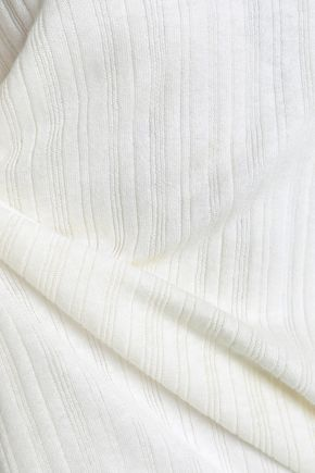 CHARLI Macy asymmetric ribbed-knit sweater