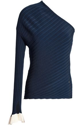 ESTEBAN CORTAZAR Ribbed stretch-knit top