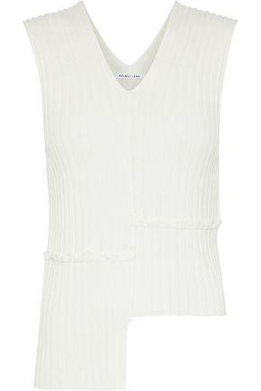 HELMUT LANG Asymmetric ribbed-knit top