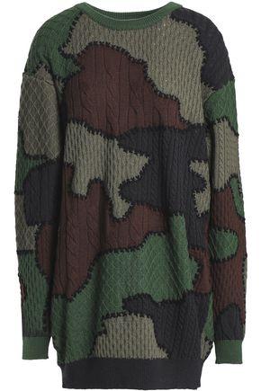 MOSCHINO Patchwork wool mini dress