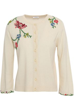 VILSHENKO Silk and cashmere-blend cardigan