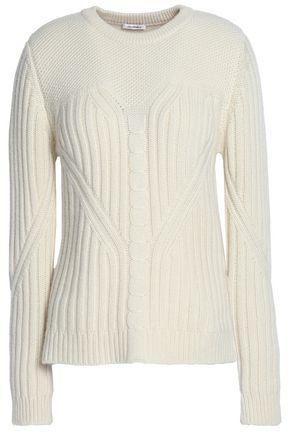 VILSHENKO Ribbed-knit wool and cashmere-blend sweater