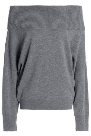 CHALAYAN Off-the-shoulder wool and cashmere-blend sweater